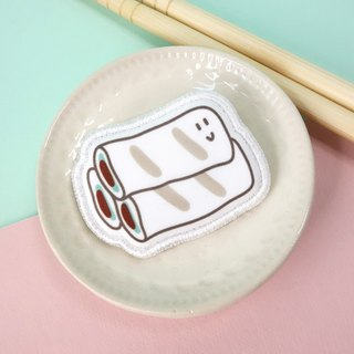 Snack Series - (rice rolls) cloth brooch / badge (BDS12)