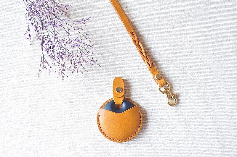 gogoro皮革鑰匙套-銘黃