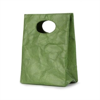 [Tyvek 100% fiber paper] waterproof graffiti dual-use bag - olive green