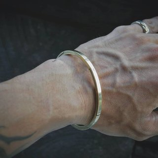 Three-mm star 2. Minimal reverse geometry wire brass bracelet
