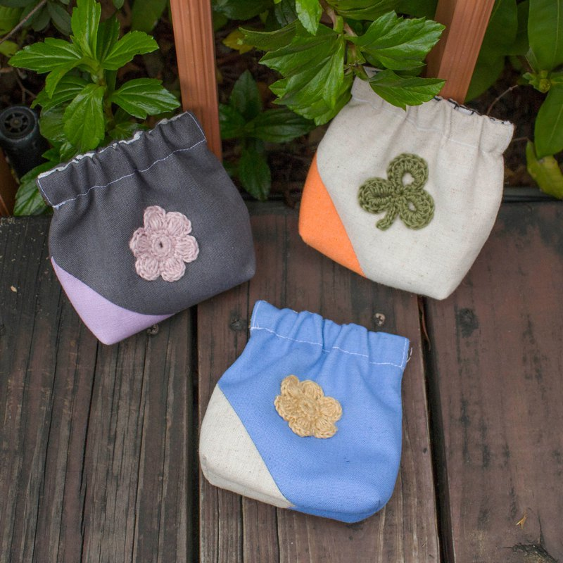 Cloth series coin purse [flowers and small square sugar]