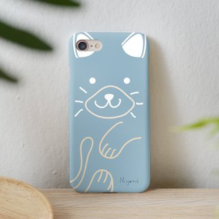 iphone case blue gray cute cat for iphone5s,6s,6s plus, 7,7+, 8, 8+,iphone x