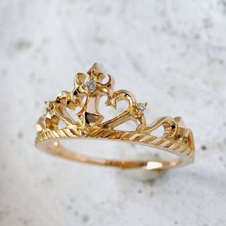 Tiara ring (cross · K18PG)