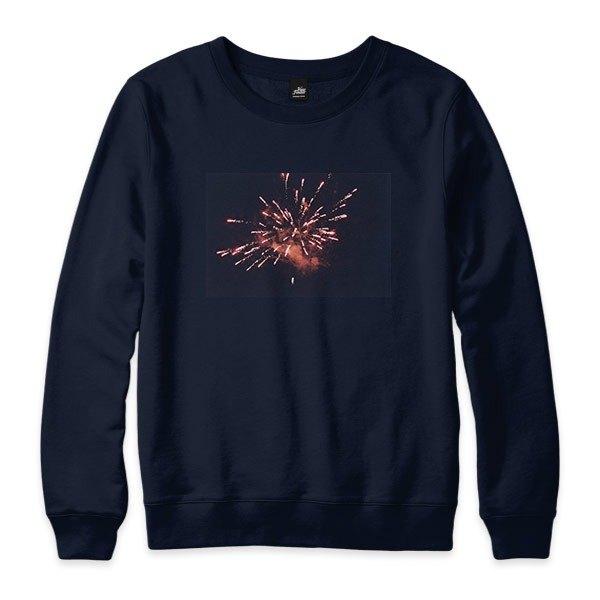 Fireworks  - 藏青 - 中性版大學T