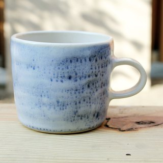 Static series - blue color pull bad feel mug coffee cup teacup cup ceramic mug handmade