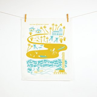 Forest & Waves tablecloth / Beach Life Beach Life Teatowel