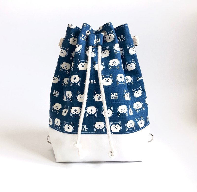 SHIBA Blue Chai Chai 3way Bundle Bucket Bag (Hand / Shoulder / Back)