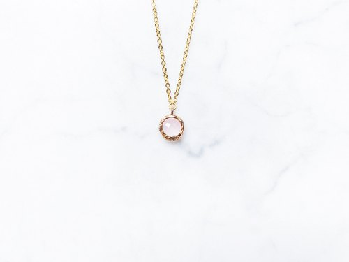:: Girl Collection :: Pink Protein Clavicle Necklace