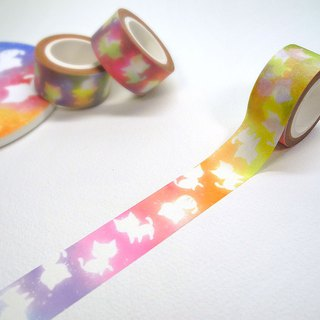 Colorful cat paper tape