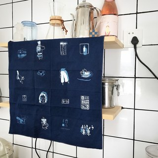 [Year of the Year] Grass dyed blue dyed and dyed cotton square towel - Tokyo Shard