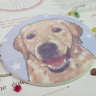 Customized (can add words)-Sketch series~Labrador-Waterproof coaster~Ceramic coasters