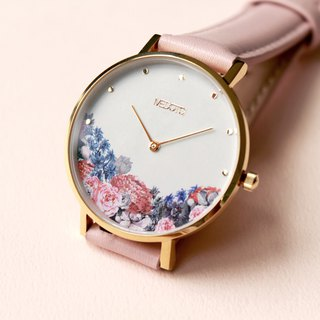 MEDOTA Blossom collection pink leather strap ladies watch / BO-8901