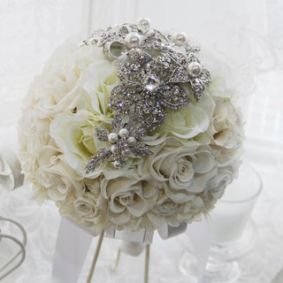 [White] lovers wedding bouquet - eternal flower / dried flower / bouquet jewelry / wedding bouquets Bouquet / Flower Ceremony