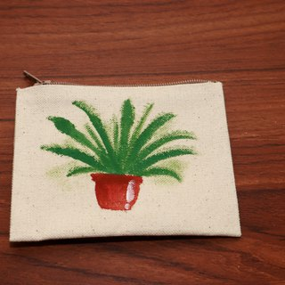 (DUO & Lele joint limited edition products) Fresh small potted plant # 1 coin purse (limited edition)