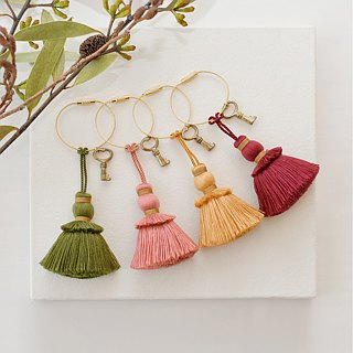 "Key Ring / Key Tassel ""Autumn"""