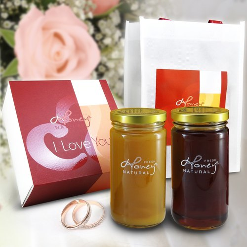 Vitality beauty: honey bee Chun I Love You Honey Zhu Ying mango flower flower honey pure treasure boxes into each bottle of 460 grams per bottle