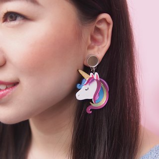 Unicorn Rainbow Dangle Earrings
