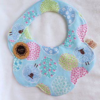 (Jinhua sheep - light blue) Eight heavy yarn 100% cotton double-sided modeling bibs