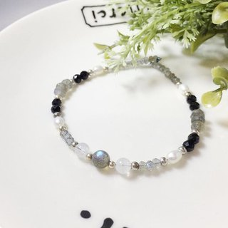 MH sterling silver natural stone custom series _ space ballet _ labradorite