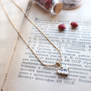 Heart zircon brass handmade necklace