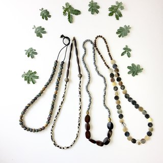 African antique beads long necklace