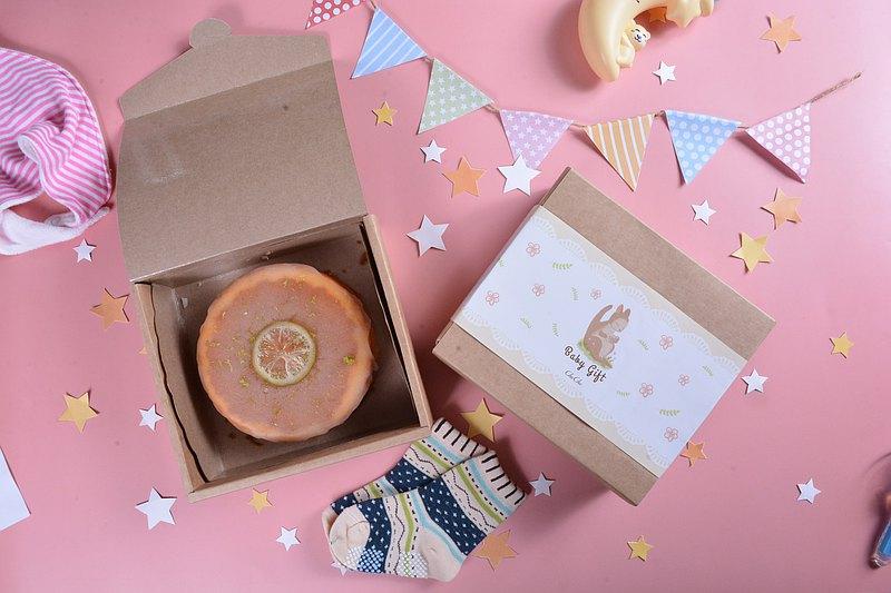 ChuChu法式甜點【袋鼠寶貝彌月禮盒--假日蛋糕(老奶奶檸檬蛋糕)】
