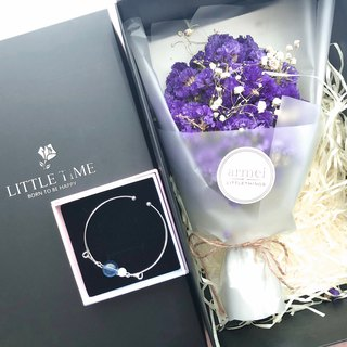 Sincerity Gift [Flower Flower Gift Set] Crystal Bracelet Series + Dry Bouquet Not Mini