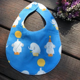Cute elephant double sided bib