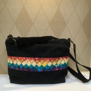 Mexican color wine bag cloth rainbow Lingge bag ❖ exclusive hand sewing bag ❖
