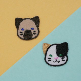Siamese&Calico Cat Set Iron Patch (set of 2)