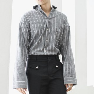 'Lawrence' Oversized Single Moon Shirt (Grey)