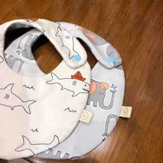 Korean organic cotton animal series six-layer yarn handmade bib