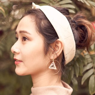 Souvenirs | handmade triangle coffee shell piece 925 pure gold plated simple earrings ear clip