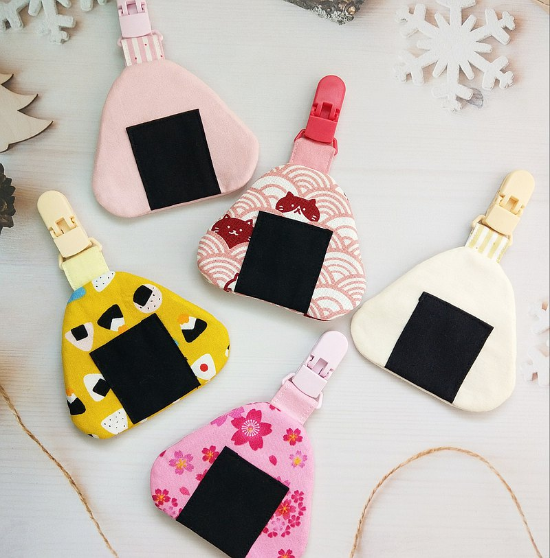 Small rice balls-5 types are available. Japanese triangle rice ball shape safe charm bag (name can be embroidered)