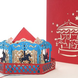 3D handmade creative happy carriage wed wedding greeting card
