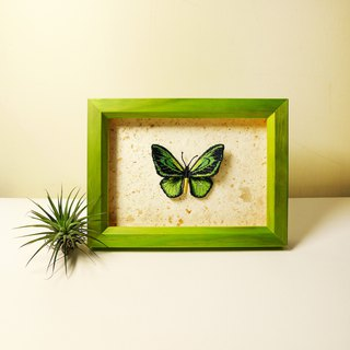 Embroidered butterfly wooden frame furniture / big butterfly