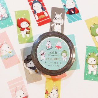 Paper tape / 13 stay Meng rabbits (color negative) rabbit slave necessary!