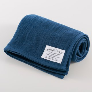 [Japan-made Gamagori] new, thin six-colour yarn towel - Prussian blue