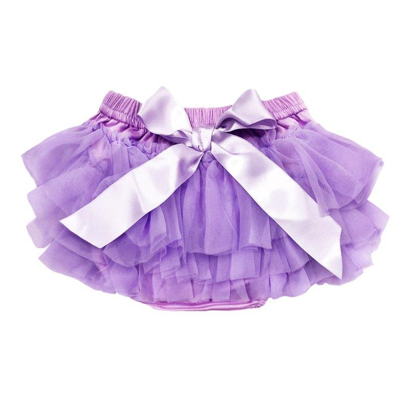 Cutie Bella 雪紡蝴蝶結蓬蓬褲裙 澎澎裙 屁屁褲 Lavender