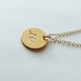 Number (number) 2 digit plate necklace