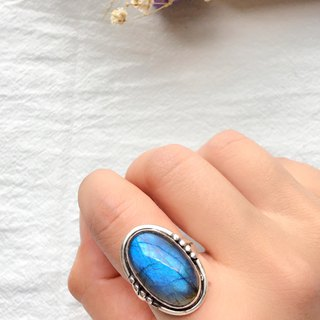 Labradorite 925 sterling silver will be simple design ring Nepal handmade silver