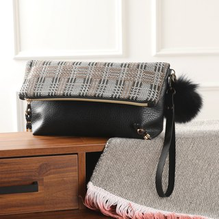 Cotton dressing fold over clutch