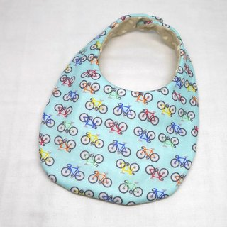 Japanese Handmade 4-layer-double gauze Baby Bib /bicycle