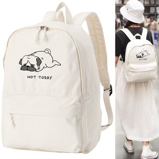 not today pug Backpack