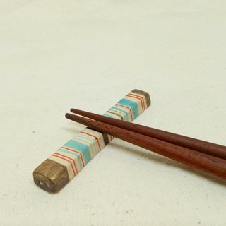 Colorful handmade cute pottery chopsticks holder / pair