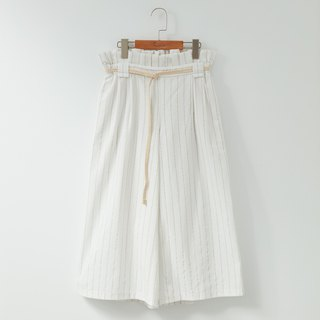 Ángeles - big girl - striped lotus leaf tube pants