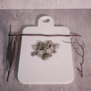 White stone chopping block