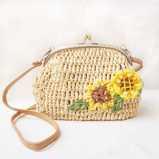 Crocheting Sunflower Messenger Bag