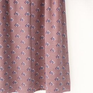 Japanese vintage geometric red bean long-sleeved loose vintage dress Japanese Vintage Dress