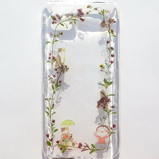 Handmade phone case, Pressed flowers phone case, iPhone 6 plus, Cats